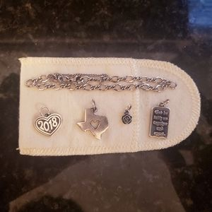 James Avery Bracelet  plus 4 charms